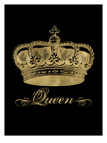 Crown Queen Golden Black Poster by Amy Brinkman