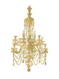 Chandelier Golden White Posters by Amy Brinkman