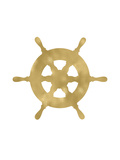 Ship Wheel Golden White Posters by Amy Brinkman