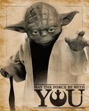 Star Wars- Yoda Force Quote Plakaty