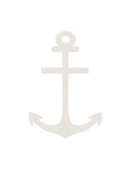 Beige White Anchor Prints by  Jetty Printables