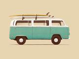 Blue Van Poster von Florent Bodart