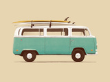 Blue Van Posters by Florent Bodart