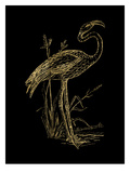 Flamingo 2 Golden Black Art by Amy Brinkman