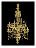 Chandelier Golden Black Posters by Amy Brinkman