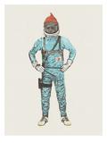 Zissou In Space Affiches par Florent Bodart