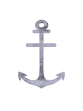 Watercolor Gray Anchor Art by  Jetty Printables