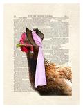 Chicken Lady Poster by Matt Dinniman