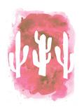 Watercolor Pink Cactus Plakater av  Jetty Printables