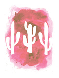 Watercolor Pink Cactus Posters by  Jetty Printables