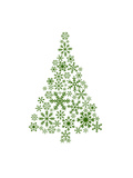 Green Snowflake Tree Posters by  Jetty Printables