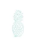 Mint Pineapple Posters av  Jetty Printables