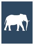 Navy Elephant Plakater av  Jetty Printables
