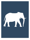 Navy Elephant Posters by  Jetty Printables