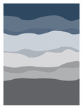 Navy Gray Abstract Poster by  Jetty Printables