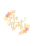 Give Thanks Print by  Jetty Printables