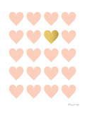 Lot Of Hearts Print by Penny Jane