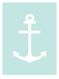 Mint White Anchor Posters by  Jetty Printables