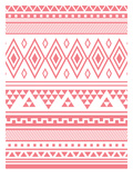 Coral Tribal Prints by  Jetty Printables