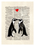Penguin Lovers Print by Matt Dinniman
