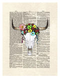 Cowskull Flowers Prints by Matt Dinniman