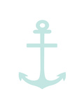 Mint Anchor Print by  Jetty Printables