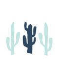 Navy Mint Cactus Posters by  Jetty Printables
