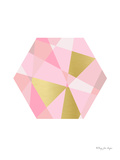 Hexagon In Pinks And Gold Prints by Penny Jane