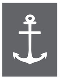 Gray White Anchor Posters by  Jetty Printables