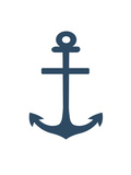 Navy Anchor Art by  Jetty Printables