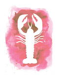 Watercolor Pink Lobster Posters by  Jetty Printables
