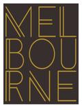 Melbourne Brown Gold Plakater af Dash of Summer
