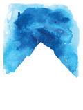 Watercolor Blue Mountain Print by  Jetty Printables