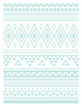 Mint Tribal Prints by  Jetty Printables