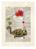 Chameleon Love Prints by Matt Dinniman