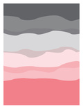 Coral Gray Abstract 高画質プリント :  Jetty Printables