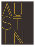 Austin Brown Gold Poster by  Dash of Summer
