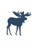 Navy Moose Moose Prints by  Jetty Printables