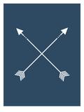 Navy Blue Arrow Posters av  Jetty Printables