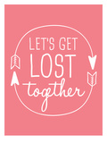 Coral White Let's Get Lost Art by  Jetty Printables