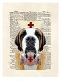 St Bernard Nurse Posters by Matt Dinniman
