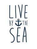Navy Live By The Sea Plakater av  Jetty Printables