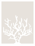 Beige White Coral Poster by  Jetty Printables