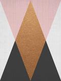 【北欧】幾何学模様(ピンク) 高品質プリント : リラ・アンド・ロラ