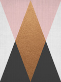 Geometric Pink Bronze 高品質プリント : リラ・アンド・ロラ