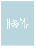 Blue White Home Snowfake Prints by  Jetty Printables