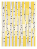 Yellow Birch Trees Prints by  Jetty Printables