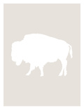 Beige White Buffalo Prints by  Jetty Printables