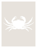 Beige White Crab Prints by  Jetty Printables