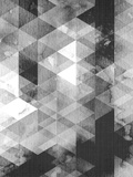 Geometric Black Grey Posters par  LILA X LOLA